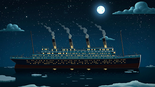 Titanic background art